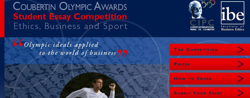 Coubertin olympic awards student essay competition